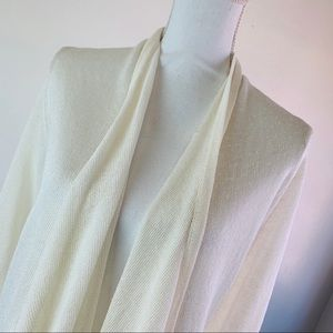 Hobbs London Long Ivory Cardigan Sweater 12